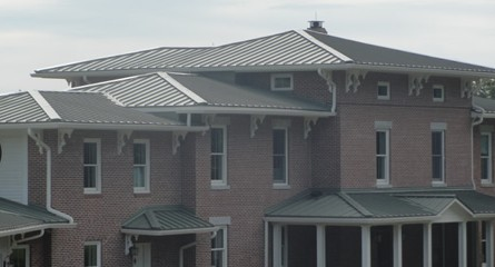 Standing seam roof installation - private residence