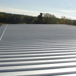 Standing seam roofing at transfer station