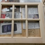 Replicated window frame to replace missing sashes Silas Deàne house